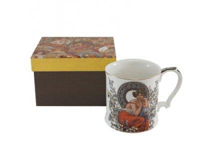 Porcelánový hrnek Alfons Mucha v dárkové krabičce - 380 ml