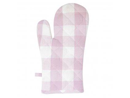 Clayre & Eef - Chňapka CLASS IC FARMER Růžová kostka