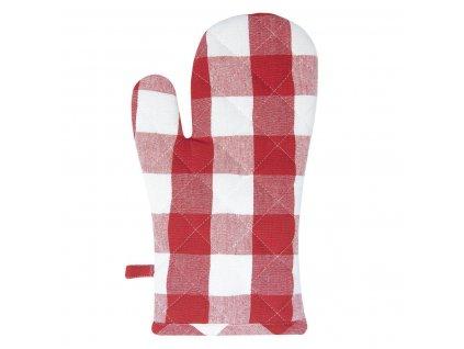 "Clayre & Eef - Chňapka CLASS IC FARMER""Červená kostka"" 16*30 cm"
