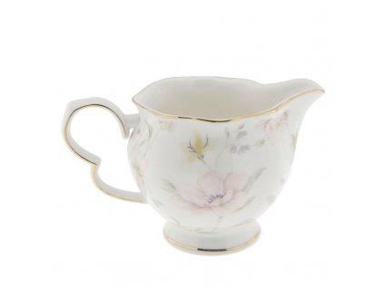 Clayre & Eef - Porcelánová mlékovka TABLE WARE FLOWERS - 13*9*8 cm