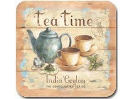 Korkové prostírání pod skleničky Tea Time, malé