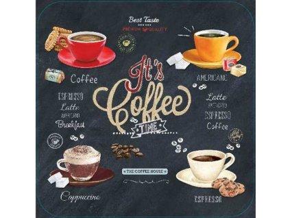 Korkové prostírání pod skleničky Its Coffee TIME, malé