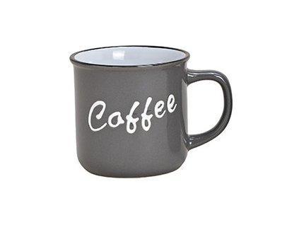 G.WURM - Kameninový hrníček COFFEE šedý - 340 ml