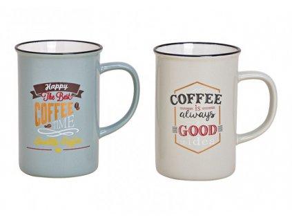 G.WURM - Sada porcelánových hrníčků COFFEE TIME - 2 * 360 ml