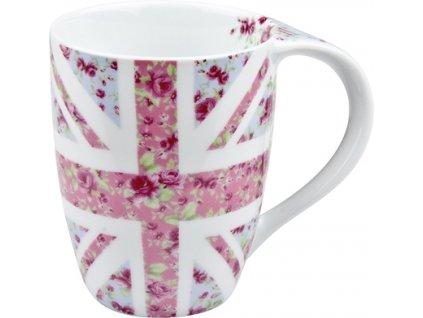 Anglické vlajka květinová - hrnek - 320 ml