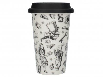 Creative Tops - Porcelánový cestovní hrnek Alice In Wonderland - 350 ml