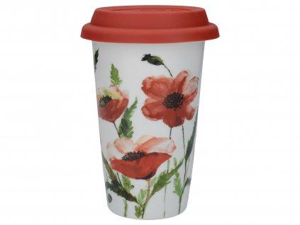 Creative Tops - Cestovní hrnek Watercolour Poppies - 350 ml