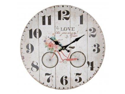 Clayre & Eef - Nástěnné hodiny LOVE - Ø 34*1 cm / 1*AA