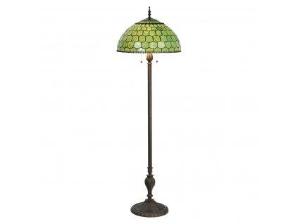 Clayre & Eef - Stojací lampa Tiffany - Ø 51*165 cm E27/max 3*60W