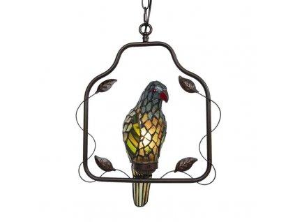Clayre & Eef - Závěsná lampa Tiffany - 40*26*86 cm E14/max 1*25W