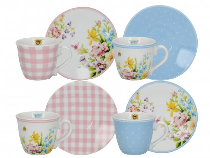 Creative Tops - Porcelánové hrnky English Garden na espresso - 4*100 ml