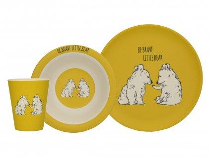 Creative Tops - Dětský jídelní set Wild Bear /22*22*19 cm/