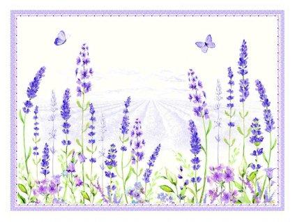 Easy Life - Korkové prostírání Lavender Field - 40*30 cm