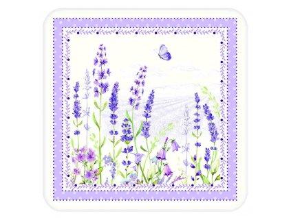 Easy Life - Korkové podložky Lavender Field - 10,5*10,5 cm