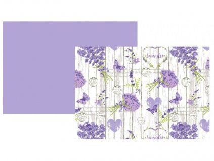 Látkové prostírání s levandulí ve stylu Provence - 45*35 cm - 4 ks