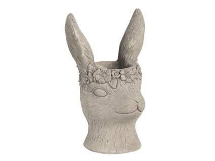 "Clayre & Eef - Kameninový květináč RABBIT ,,králík"" - 16*15*26 cm"