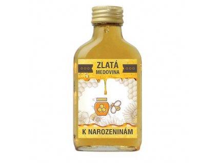 Bohemia Gifts Zlatá medovina 100 ml - k narozeninám