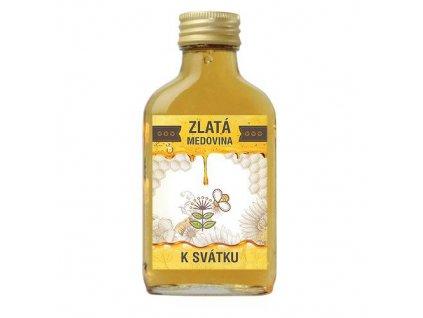 Bohemia Gifts Zlatá medovina 100 ml - k svátku
