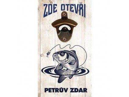 Bohemia Gifts Otvírák na zeď pro rybáře - Petrův zdar