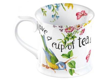 Creative Tops - Porcelánový hrnek English Garden s ptáčkem - 350 ml