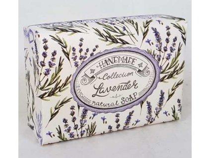 Luxusní přírodní mýdlo 200g s vůní balené - Levandule