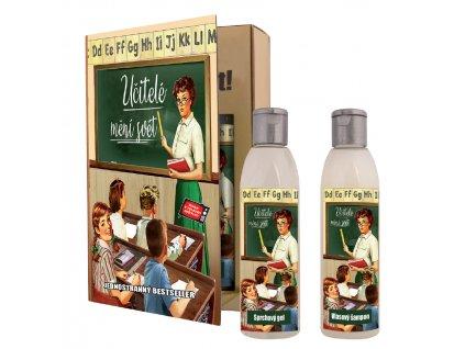 Dárkové balení  pro  učitele - kniha - sprchový gel 200 ml + olejová lázeň 200 ml
