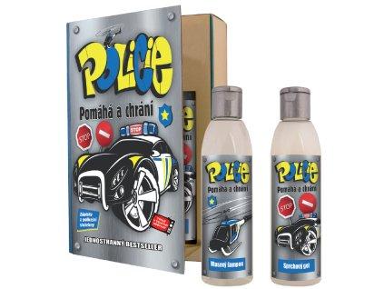 Dárkové balení pro policistu - kniha - sprchový gel 200 ml + vlasový šampon 200 ml