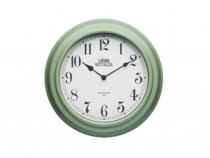 Nástěnné hodiny Living Nostalgia zelené
