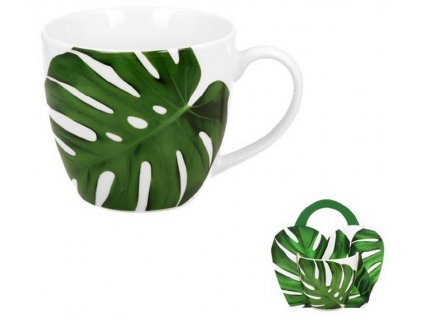 Porcelánový hrnek MONSTERA v přebalu - 460 ml