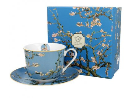 """Van Gogh""""Almond Blossom"""" - Porcelánový šálek s podšálkem jumbo 450ml v boxu"""
