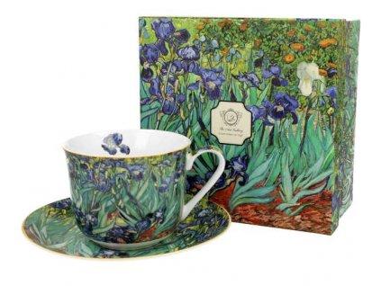 "Van Gogh""Irises"" - Porcelánový šálek s podšálkem jumbo 450ml v boxu"