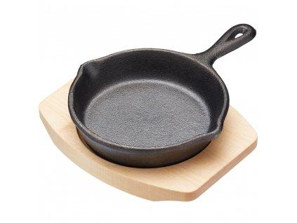Kitchen Craft - Litinová pánvička kulatá malá /11,5*16x2 cm/
