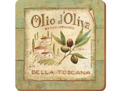 Creative Tops - Korkové prostírání pod skleničky Olio D´Oliva /10*10 cm/ - 6 ks v balení