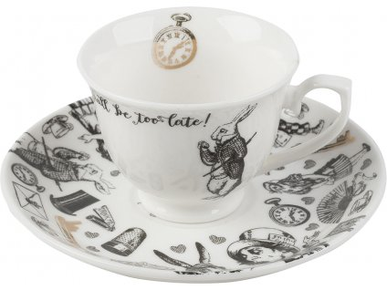 Creative Tops - Porcelánový šálek a podšálek Alice In Wonderland - 100 ml