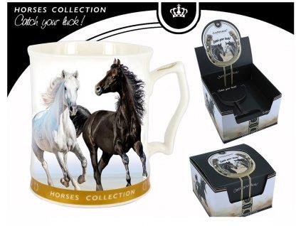 Carmani - Porcelánový hrnek koně v dárkové krabici  - 480 ml