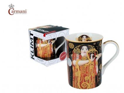 """Carmani - Porcelánový hrnek Classic Klimt """"Hygiena"""" v dárkové krabičce - 420 ml"""