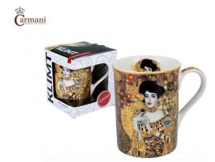 """Carmani - Porcelánový hrnek Classic Klimt """"Adele Bloch"""" v dárkové krabičce - 420 ml"""