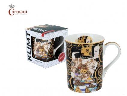 """Carmani - Porcelánový hrnek Classic Klimt """"Čekání"""" v dárkové krabičce - 420 ml"""