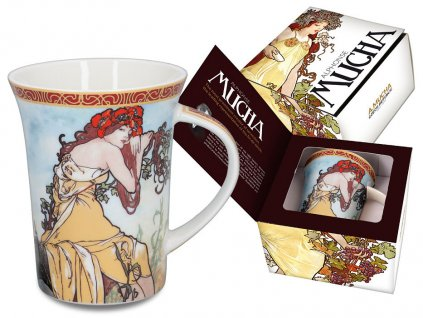 Porcelánový hrnek Alfons Mucha Jaro