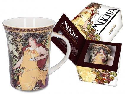 Porcelánový hrnek Alfons Mucha Podzim
