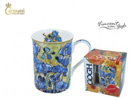 """Carmani - Porcelánový hrnek Van Gogh """"Modrý kosatec"""" v dárkové krabičce - 400 ml"""