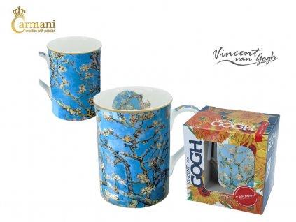 """Carmani - Porcelánový hrnek Van Gogh """"Větve"""" v dárkové krabičce - 400 ml"""
