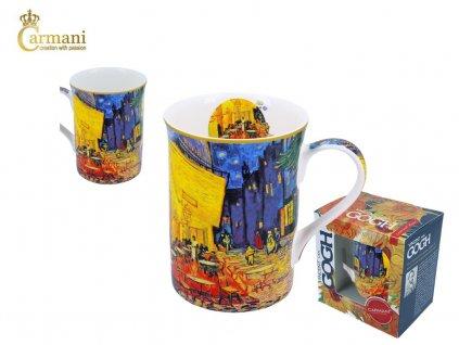 """Carmani - Porcelánový hrnek Van Gogh """"ulice"""" v dárkové krabičce - 400 ml"""