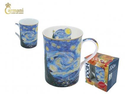 """Carmani - Porcelánový hrnek Van Gogh """"vichr"""" v dárkové krabičce - 400 ml"""
