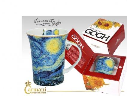 Carmani - Porcelánový hrnek VINCENT VAN GOGH v dárkové krabičce - 350ml