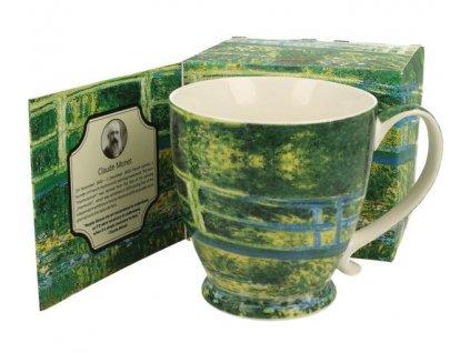 Porcelánový hrnek Claude Monet na stopce v dárkové krabičce - 450ml