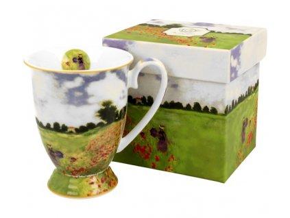 Porcelánový hrnek Monet Poppy v dárkové krabičce - 325 ml