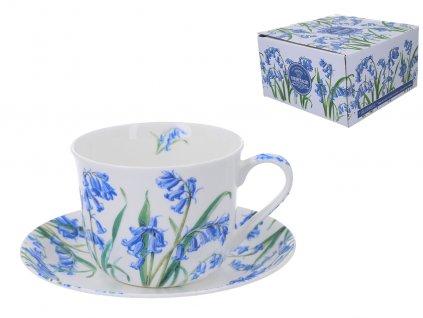 """B.E - Porcelánový šálek s podšálkem """"Bluebell"""" v dárkové krabičce - 450 ml"""