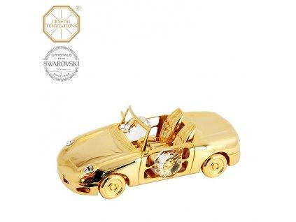 """Swarovski - designová figurka """"AUTO KABRIOLET"""" s bílými krystaly Swarovski Elements v dárkové krabičce"""