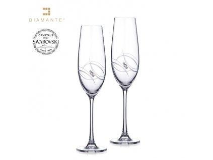 Swarovski - Atlantis flétny s bílými krystaly Swarovski Elements v luxusním balení - 2*260 ml